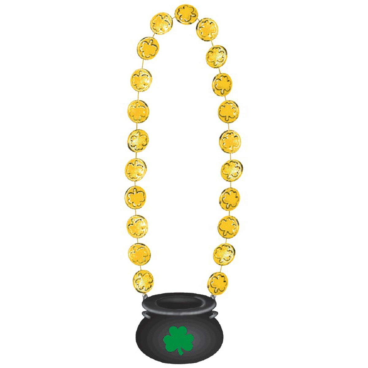 36 I 9 Ct Amscan St Patricks Day Gold Coin Necklace