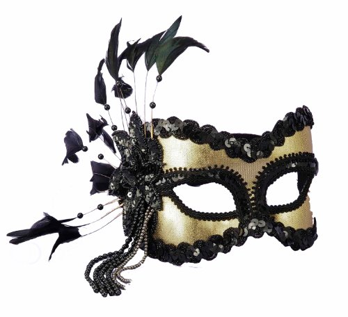 Forum Fantasy Half Mask, Gold, One Size (Mascarade Party)