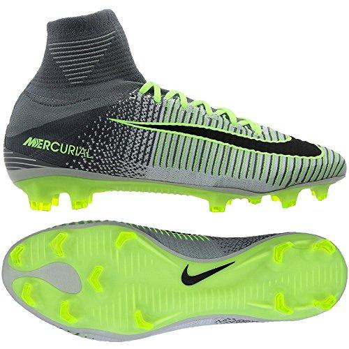 separation shoes 5ba72 66af3 Galleon - Nike Men s Mercurial Superfly V FG (Pure Platinum Black Ghost  Green Hyper Turq Wolf Grey Cool Grey) (13)