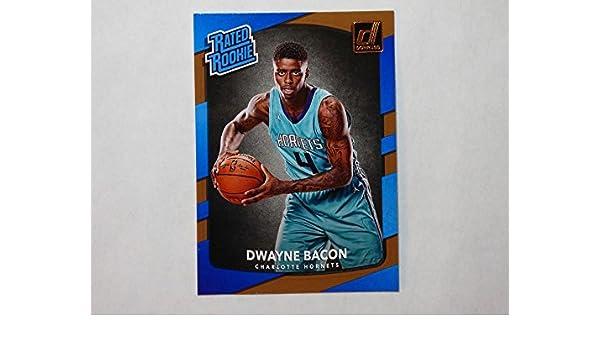 Amazon.com: 2017-18 Donruss Rated Rookie #161 Dwayne Bacon NM-MT Charlotte Hornets: Collectibles & Fine Art
