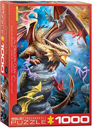 EuroGraphics Dragon Clan by Anne Stokes 1000-Piece Puzzle (Dragon 1000 Piece Jigsaw Puzzle)