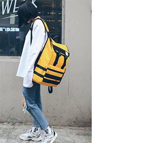 Style Loisirs À Hip Voyage Sac De Hop Couleur Mode Sac À Oxford 27 BeiBao 13 Personnalité Mode Américain 43 Tissu Minimalisme Hit Dos Harajuku Rue Dos qUOwP0xt