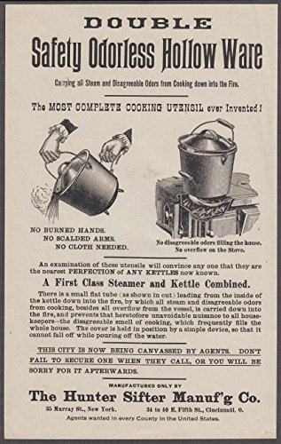 (Hunter Sifter Double Safety Odorless Hollow Ware pots sales flyer)
