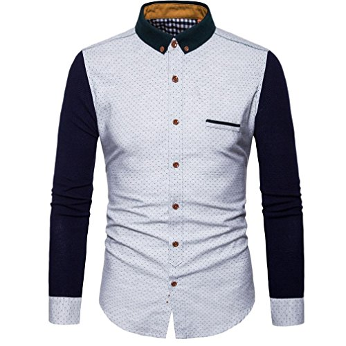 0ba9687e361 Vovotrade Luxury Mens Casual Slim Fit Shirt Solid Handsome Tops Personality  Basic T Shirt durable modeling