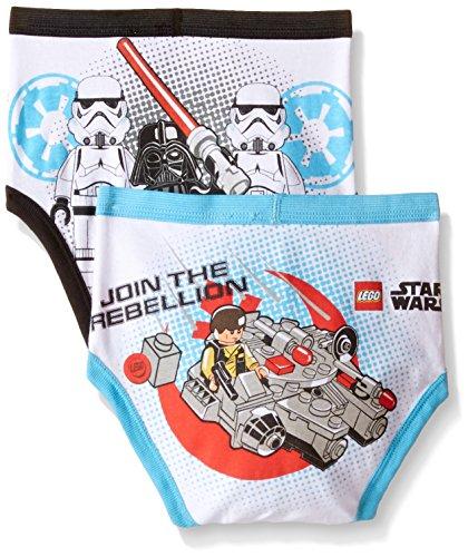 Braguitas de ropa interior Lego Star Wars para niños pequeños de Star Wars, paquete de 5, múltiples, 6
