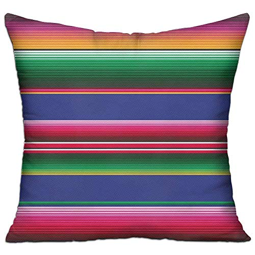 Proud Clothing Novel Colorful Mexican Blanket Stripes Square Pillow Covers...