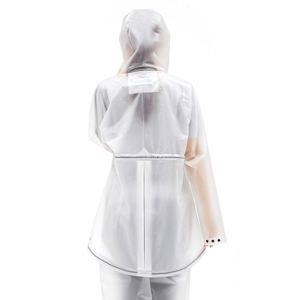 4b3743672e98ba Amazon.co.jp: ZEMIN ポンチョ レインウェア レインコート ポンチョ ウインドブレーカー 防水 カバー ポータブル 女性 セット  ズボン ポリエステル、 2色、 3サイズ ...