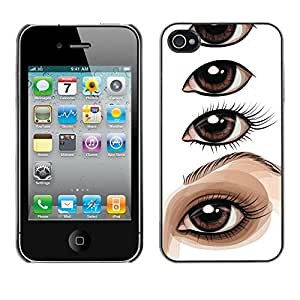 Planetar® ( Eye Drawing Lesson Artist Painting ) iPhone 4 / 4S Fundas Cover Cubre Hard Case Cover