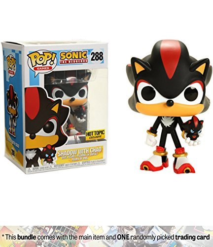 Funko Shadow w/ Chao (Hot Topic Exclusive) POP! Games x Sonic the Hedgehog Vinyl Figure + 1 Video Games Themed Trading Card Bundle [#288] ()