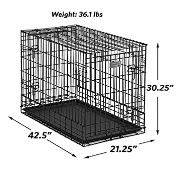 Midwest Side-by-Side Double Door SUV Crate with Plastic Pan