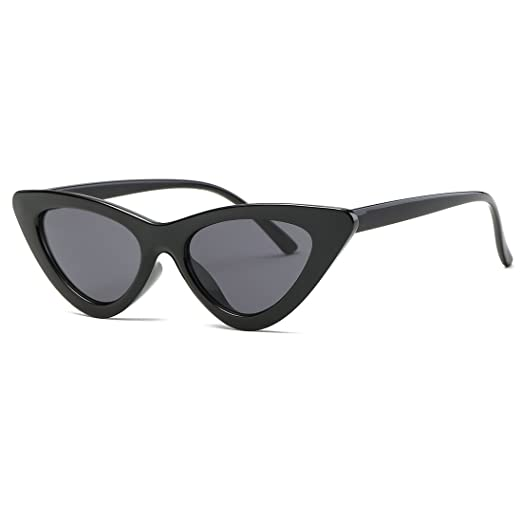 de7041ad3b Kimorn Cat Eye Sunglasses Women Clout Goggles Kurt Cobain Retro Sun Glasses  K0566 (Black)