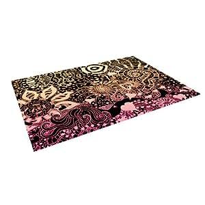 """Kess InHouse Monika Strigel """"Neptunes Garden II"""" Indoor/Outdoor Floor Mat, 5-Feet by 7-Feet"""