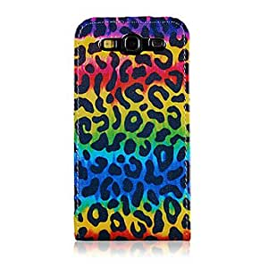 ZL Colorized Leopard Grain Pattern PU Leather Full Body Case for Samsung Galaxy S3 I9300