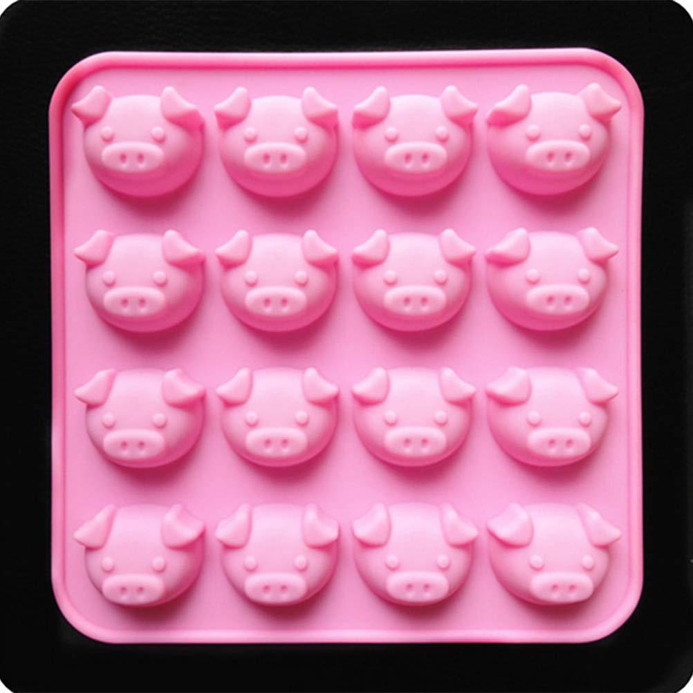 17 x 17 x 1.8cm Rose Cochon BESTONZON Moules /à Chocolat Silicone Moules /à Bonbons G/âteau Moules /à Gla/çons DIY