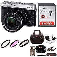 Fujifilm X-E3 Camera w/XF18-55mm Lens Kit w/32GB Memory Card & Focus Camera Gadget Bag