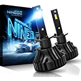 NINEO H1 LED Headlight Bulbs CREE Chips,12000Lm 5090Lux 6500K Extremely Bright All-in-One Conversion Kit,360 Degree Adjustable Beam Angle