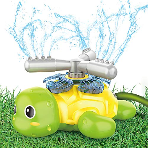 Sprinkler for Kids and Toddler, Turtle Sprinklers for Yard Kid Outdoor Water Toys Gifts for 3 4 5 6 7 8 Year Old Boy…