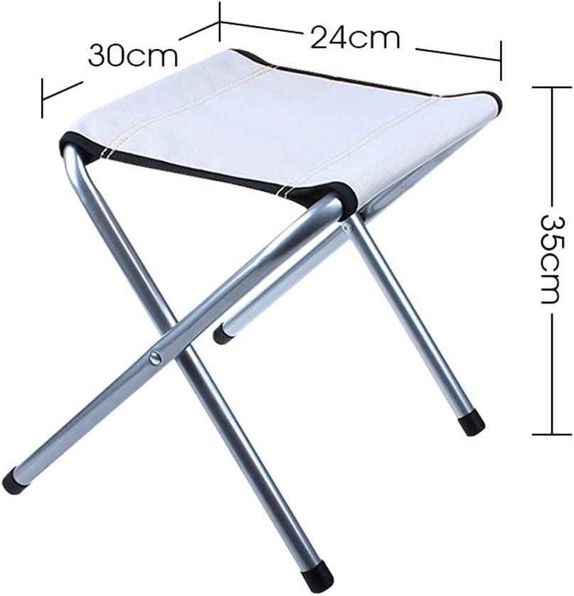 GXDHOME Folding Chair Stool,Lightweight Strong Steel Suitable Office Outdoor Garden Restaurant Meeting Dining Camping Living Room (Color : Blue) Gray
