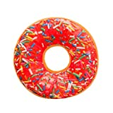 Nation Pillow Clearance ♥ Soft Plush Pillow Stuffed Seat Pad Sweet Donut Foods Cushion Cover (L)