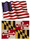 Maryland State Flags (5×8 US Combo) For Sale