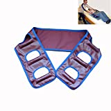 Transfer Lift Sling Belts for Patient Care Disabled Elderly Handicapped Standing Aids Supports (Scarlet)