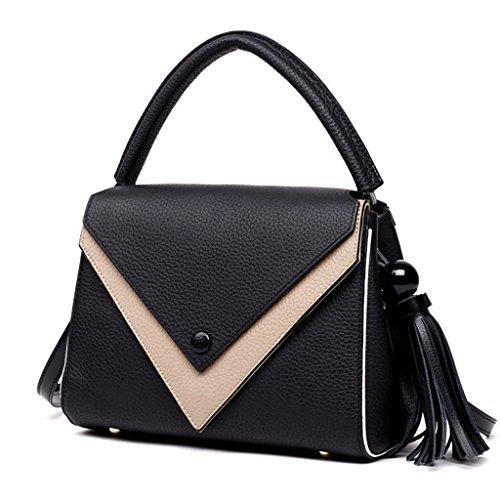 Bloqueo Sucastle 4 RFID a trabajo de Cuero 3 Mujer viaje Capacidad Genuina Ideal para Genuino bolsos hombro Gran Mano Hecho y zpqAzw