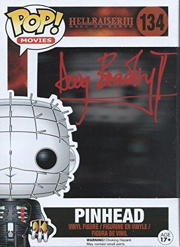 Clive Barker's Hellraiser Signed Autographed Doug Bradley as Pinhead Funko Pop Vinyl Figure (Red Version)