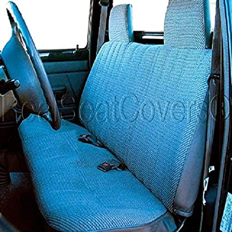 Awesome Realseatcovers For Front Bench A23 Triple Stitched Molded Headrest Belt Cutout Custom Made For Toyota Small Truck Blue Gmtry Best Dining Table And Chair Ideas Images Gmtryco