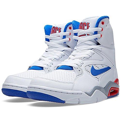 Nike Air Command Force Mens Shoes White/Lyon Blue-Bright Crimson-Wolf Grey 684715-101