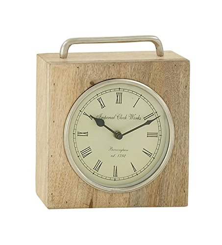 Deco 79 Splendid Wood Metal Table Clock - Suitable to use as a decorative item Unique home decor This product is manufactured in India - clocks, bedroom-decor, bedroom - 518qMp2s0jL -