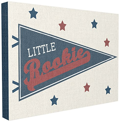 The Kids Room By Stupell Little Rookie Pennant XXL Stretched Canvas Wall Art, 30 x 1.5 x 40, Proudly Made in USA (Rookie Canvas)