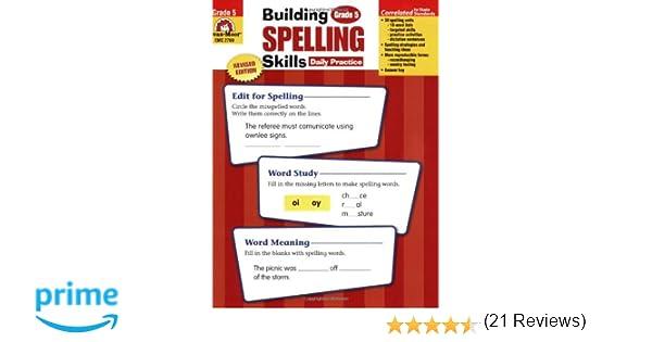 Workbook contraction worksheets for grade 3 : Amazon.com: Building Spelling Skills: Grade 5 (9781557998439 ...