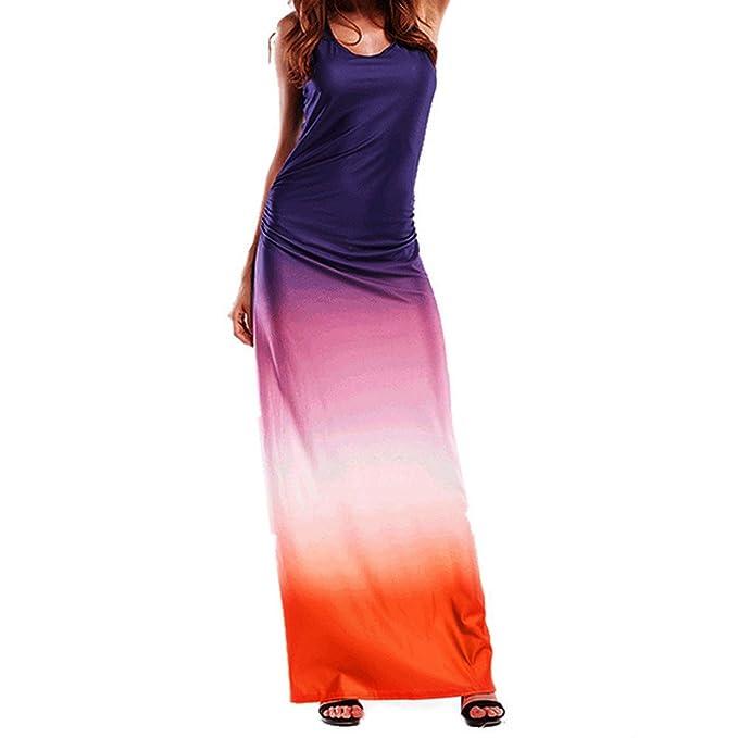 buy online f2b84 6c323 YunYoud Vestito Lungo da Donna A Vita Lunga Color Pesca Vestiti Elegante  Cerimonia con Una Cintura Sera Abito Retro in Pizzo Cocktail Dress Sexy ...