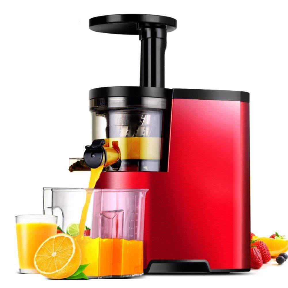 HhGold Separación automática casera del Juicer de la máquina de la Leche de Soja del Jugo del residuo de la Fruta y verdura del Jugo, Red-23.6 * 17.1 ...