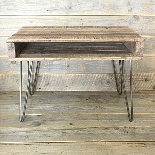 Rustic Shabby Chic Coffee Table Industrial Reclaimed Wood Steel Hairpin Legs Handcrafted Amazon Co Uk Handmade