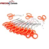 PRECISE CANADA: 12 PCS PARAMEDIC UTILITY BANDAGE FIRST AID STAINLESS STEEL TRAUMA EMT EMS SHEARS SCISSORS 7.25'' NEON ORANGE NEW