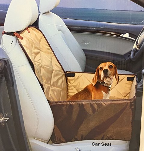Ideas In Life Dog Car Seat Cover - 2 in 1 Bucket Seat Cover and Car Pet Seat - With Seat Anchor Strap and Dog Leash Connector by Ideas In Life (Image #1)