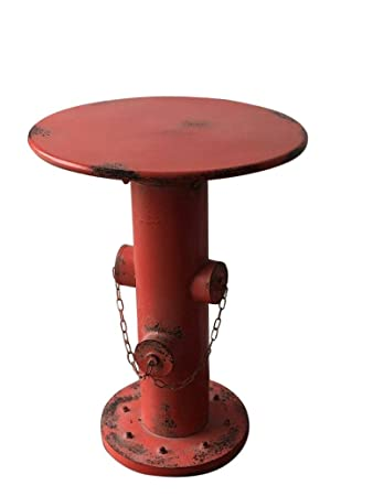 Dipamkar Industrial Style Metal Bistro Table Pub Table Side Table Coffee  Table With Fire Hydrant Base