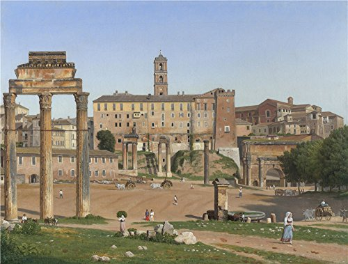 Oil Painting 'Christoffer Wilhelm Eckersberg - View Of The Forum In Rome,1814', 24 x 32 inch / 61 x 81 cm , on High Definition HD canvas prints is for - France Commons Lake