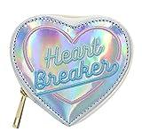 Eilova Holographic Heart Shape Wallet Small Clutch Purse Bag for Women Girls Lady
