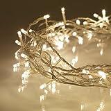 Guirnalda de 100 LEDs de luz blanca cálida de Lights4fun
