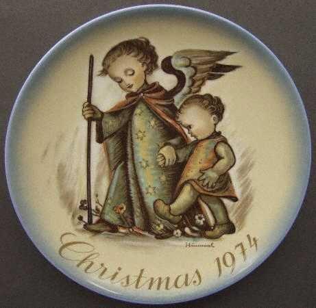 Schmid Hummel Christmas Plate - Hummel Schmid 1974 Christmas Plate - Guardian Angel