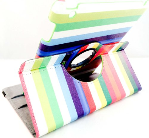 SANOXY 360 Degrees Rotating Stand PU Leather Case for iPad 2