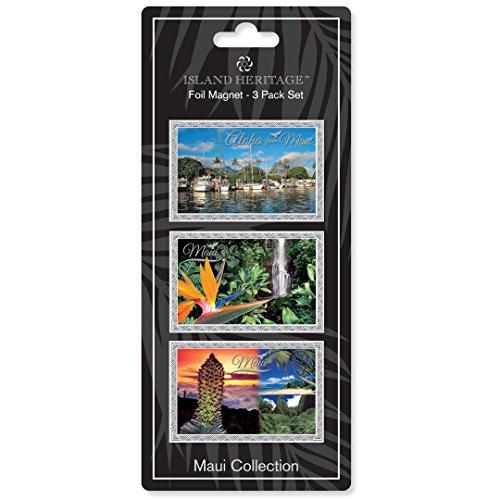 Foil Magnet 3-Pack: Maui - Lahaina Maui Shops