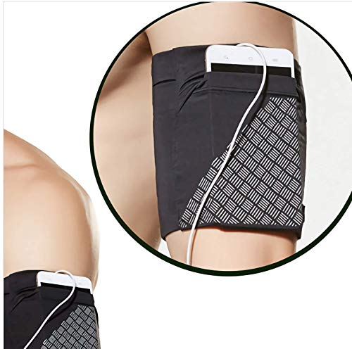 Running Mobile Arm Bag Men And Women Elastic Arm Bag Travel Mobile Phone Sets Arm Bag Fitness Outdoor Equipment Wrist Bag Best Running Sports Arm Band Strap Holder Pouch Case for Exercise Workout Fits
