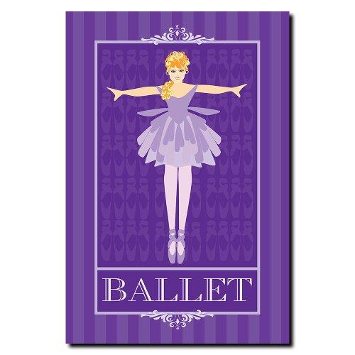 Trademark Fine Art Ballet in Blue I Grace Riley Canvas Wall Art, 22x32-Inch