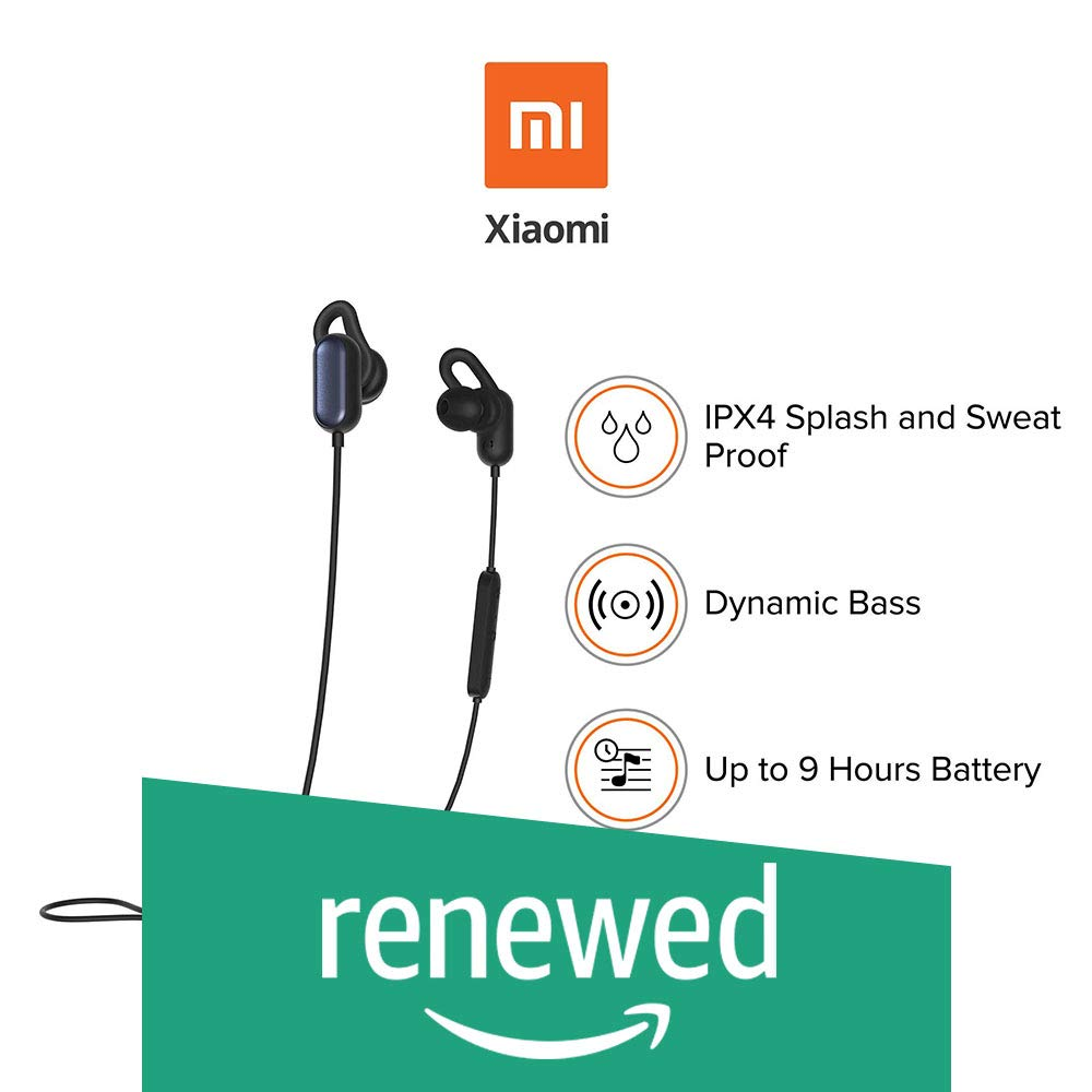 Renewed Just Launched Mi Sports Bluetooth Wireless Earphones With Mic Black Buy Online In Grenada Amazon Renewed Products In Grenada See Prices Reviews And Free Delivery Over Ex 200 Desertcart