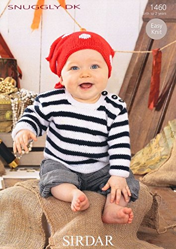 Sirdar Snuggly Dk Baby Pirate Sweater Headscarf Knitting Pattern