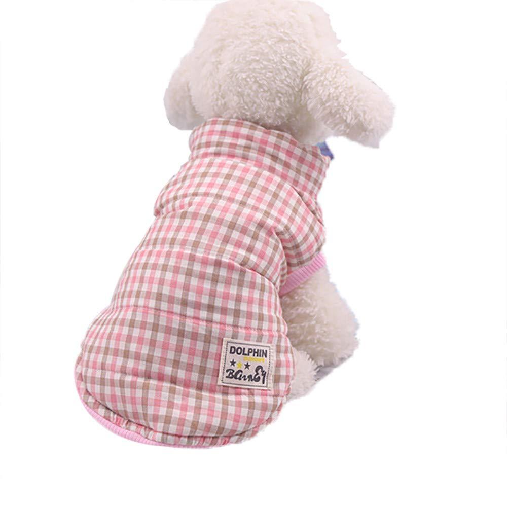 Haustier Hundekleidung Hundemantel Hundejacke Hundepullover Warm Winter fü r Kleine und Mittel Hund Plaid XL) KariNao