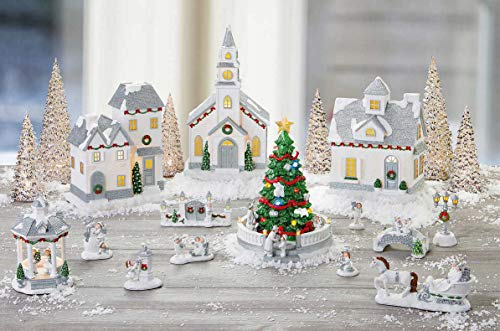 (Winter Village with LED Lights and Music - Plays 8 Classic Holiday Songs - A Great Winter Holidays / Christmas)